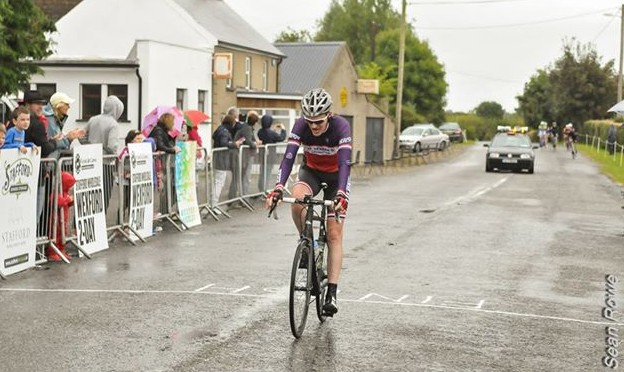 Fergal May finishes wet final stage on Wexford Two Day clear of the main bunch to collect third place