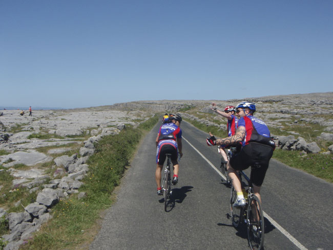 Tiernan's riders take in the landscape at Tour de Burren 2010