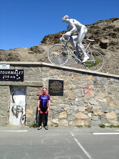 Barry at the Tourmalet